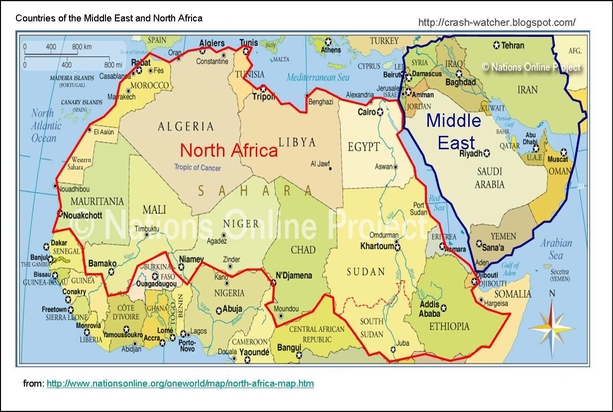 deserts of north africa map