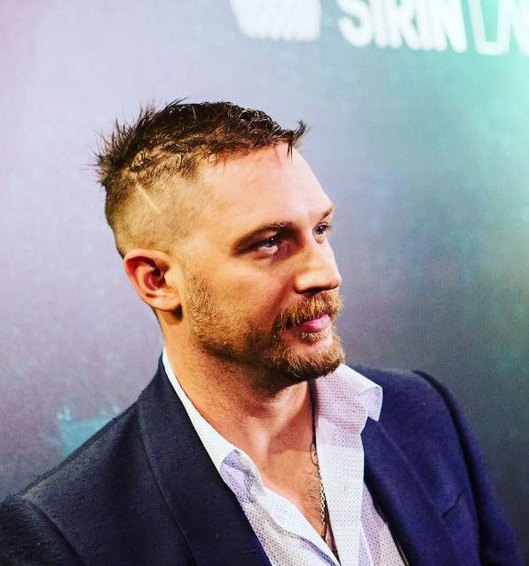 Tom Hardy at the launch of the Solarin phone in London -May