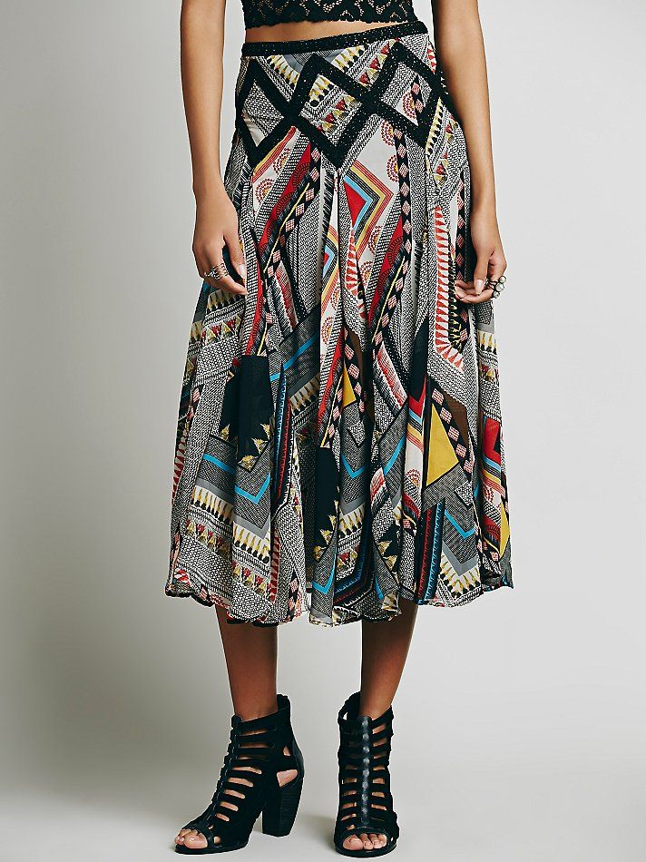 Lotta Stensson x Free People Tribal Bazaar Print Maxi at Free People Clothing Boutique