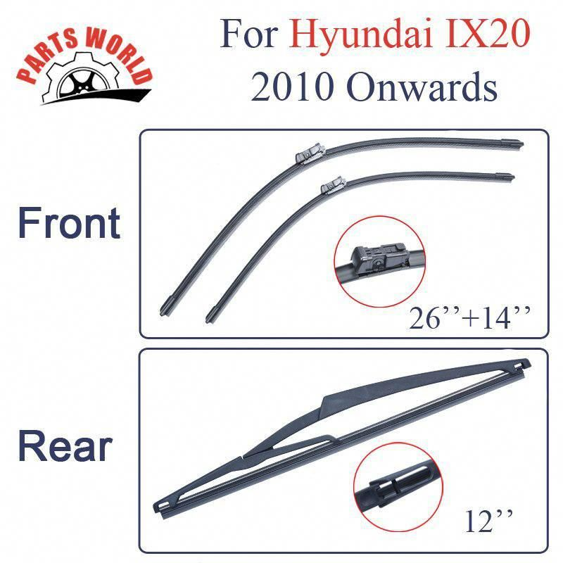 Front And Rear Wiper Blades For Hyundai Ix20 2010 2016 High Quality Windshield Rubber Car Accessories Yesterday Windscreen Wipers Wiper Blades Car Accessories