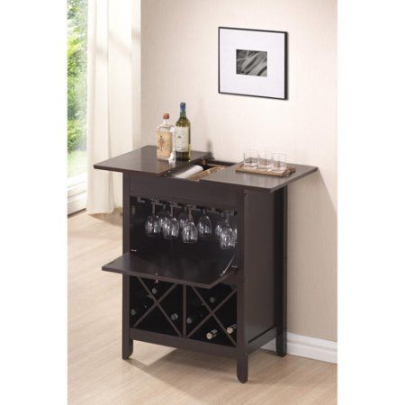 Baxton Studio Tuscany Modern Dry Bar And Wine Cabinet Brown