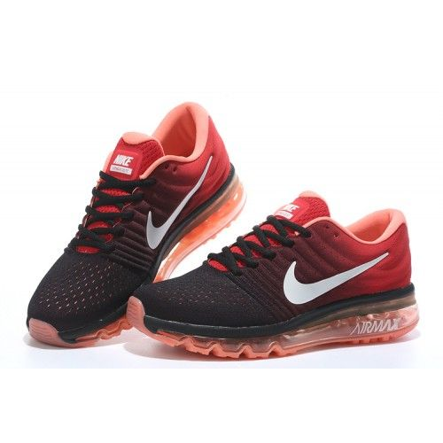 Nike Airmax 2017 Black Red Running Shoes - The Nike Air Max 2017 Black Red  Men