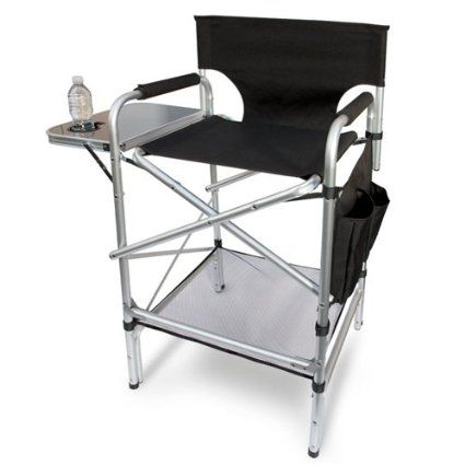 Amazon Com The Original World Class Heavy Duty Tall Folding Directors Chair With Side Table And Cup Ho Directors Chair Camping Chairs Folding Camping Chairs