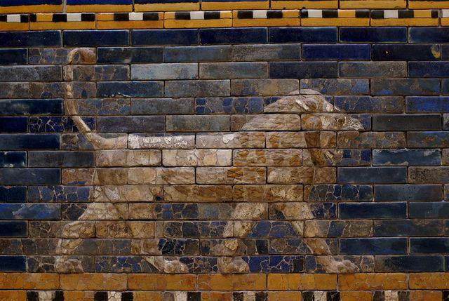 Berlin Pergamonmuseum Ischtar Tor Aus Babylon Lowe Als Symbol Der Gottin Ischtar Ishtar Gate Of Babylon Lion The Symbol Of Gate Of Babylon Ishtar Babylon