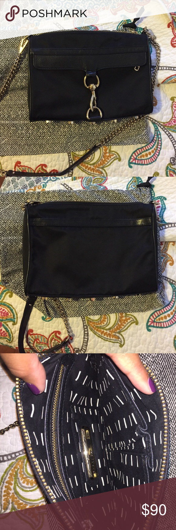 Rebecca Minkoff Large Mac Crossbody Authentic Rebecca Minkoff Large Mac crossbody in black either gold hardware. Comes with dust bag. Offers welcome :) Rebecca Minkoff Bags Crossbody Bags