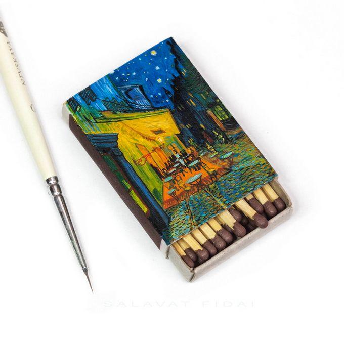 Миниатюрные картины Ван Гога | Картины, Спичечные коробки ...