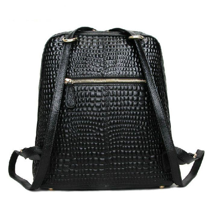 962340561 Mochilas de cuero original para notebook bolsas de chicas negras ...