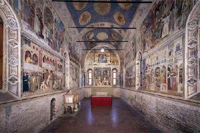 ALTICHIERO da Zebio Frescoes in the Oratorio di San Giorgio, Padua (1378-84) desde la entrada