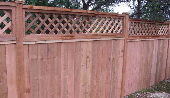 Cedar Privacy Fence With Lattice Top Fence With Lattice Top Wood Fence Privacy Fences