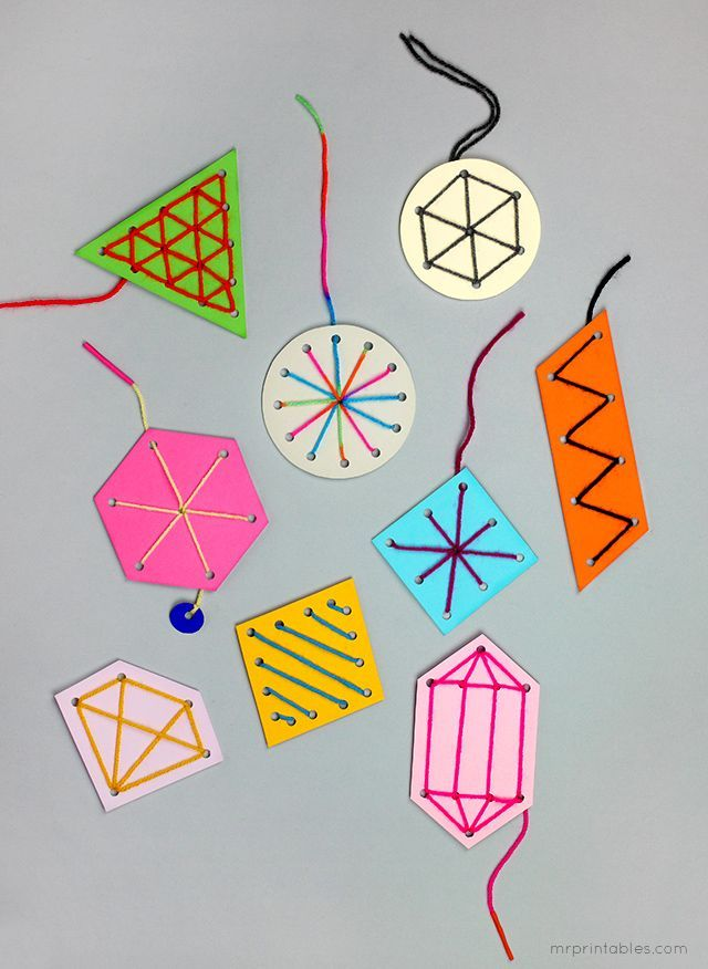 easy sewing card templates for kids / make nice ornaments or gift ...