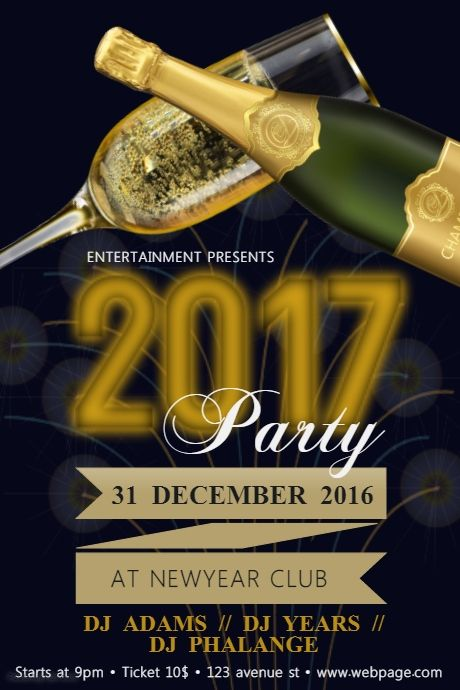 free customisable new year party flyer template postermywall