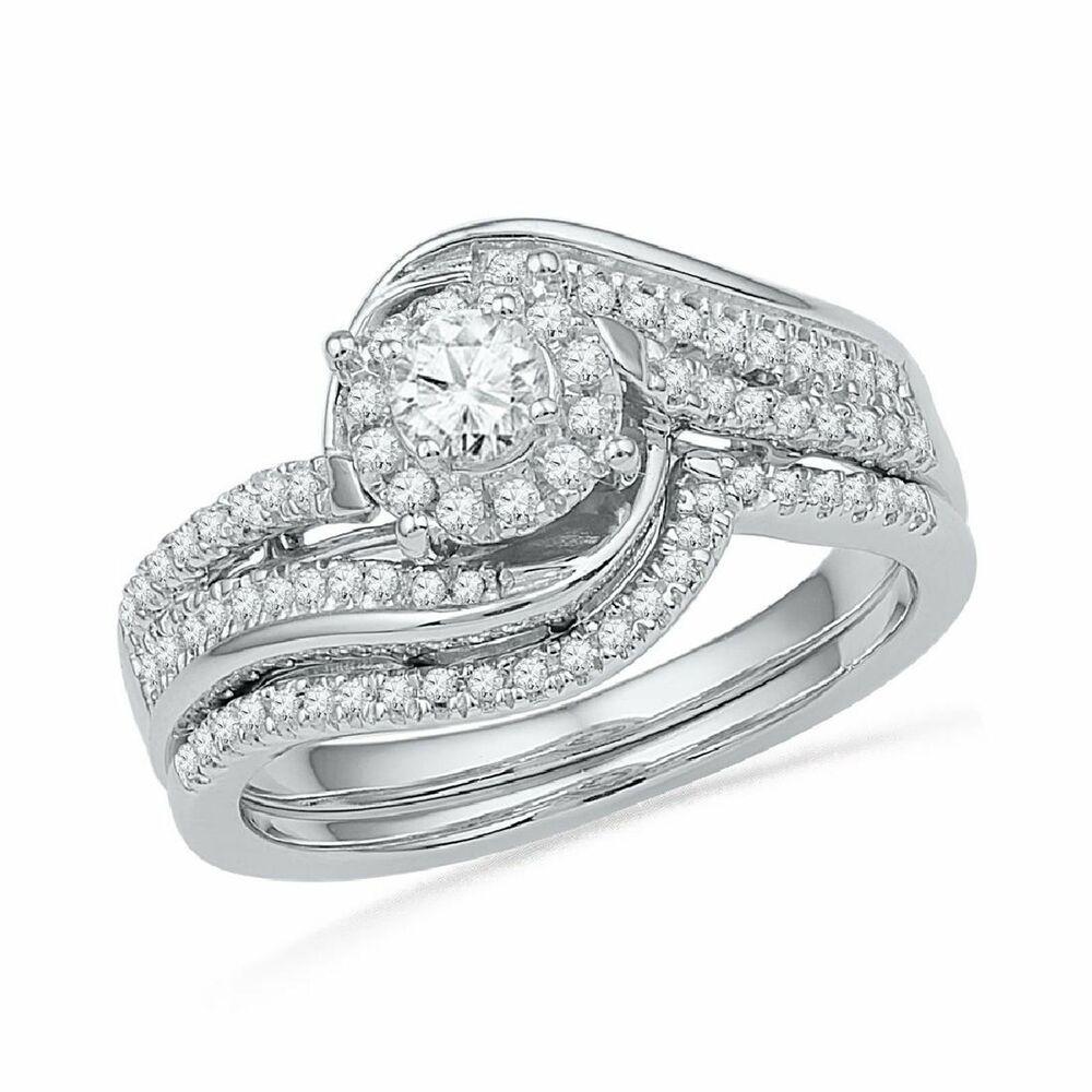12++ Small halo wedding ring sets information