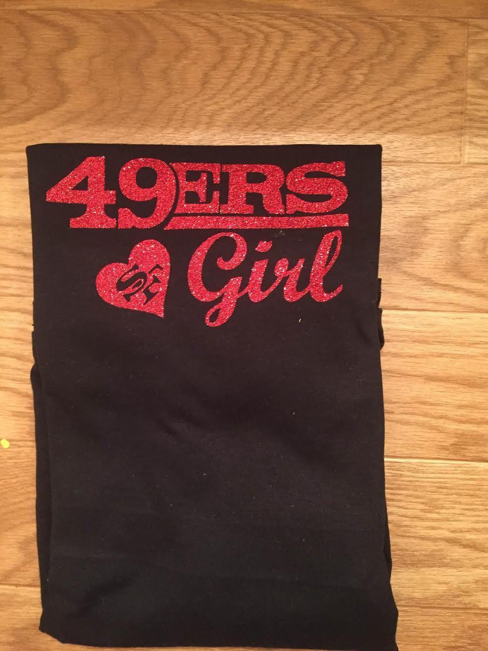 San Francisco Edition New 49ers Niner Empire Long Sleeve T-Shirt Red /& Black