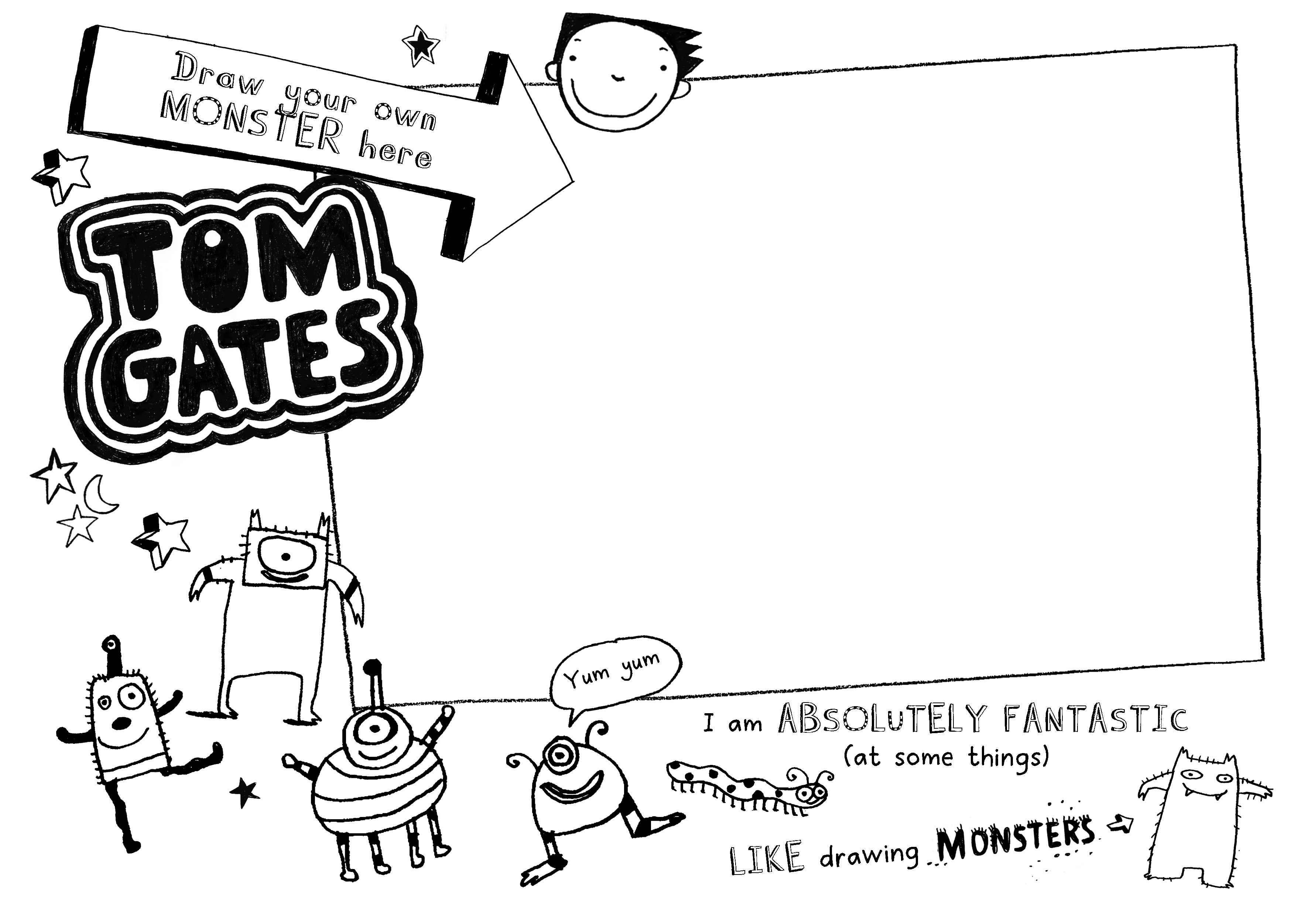 Tom Gates Activity Sheet Act Free