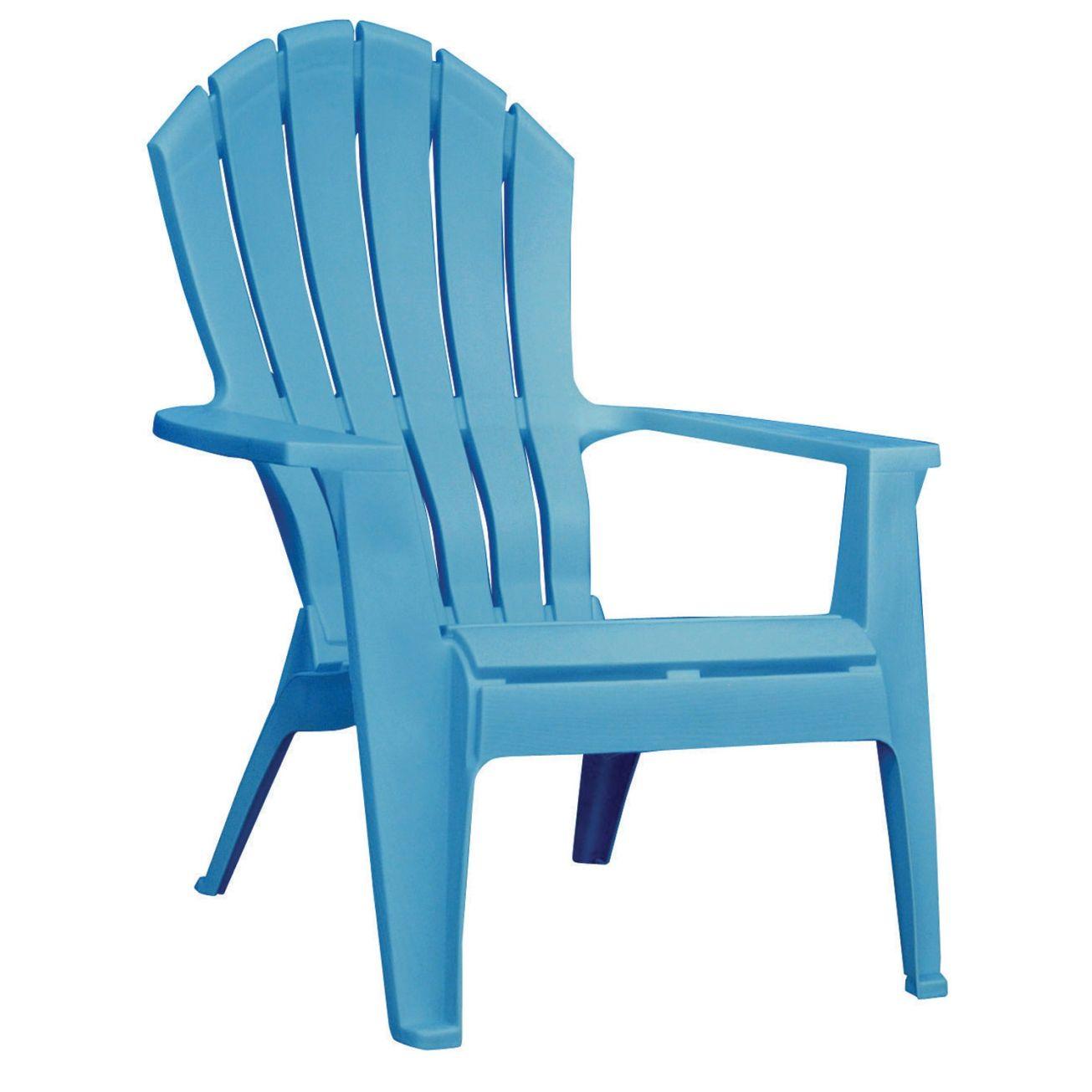 Adams High Back Stacking Ergonomic Adirondack Chair In Pool Blue