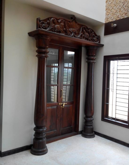 Pooja room door designs room door design door design for Room door design for home
