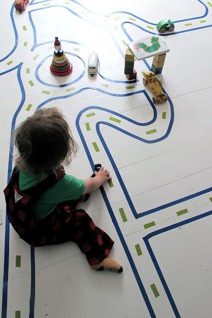 diy kids floor road map