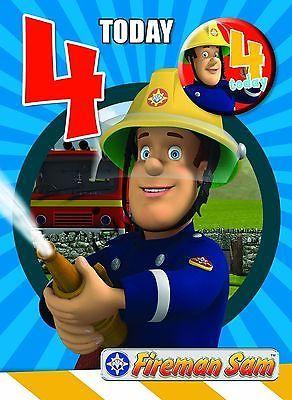 Fireman Sam 4 Today 4th Birthday Card Badge New Gift Cards Stationery Celebrations Occasions Bomberos Sam El Bombero Cumpleanos
