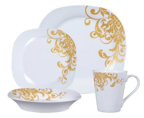 Gibson Aristocracy Gold 16-Piece Fine China Dinnerware Set Gibson//  sc 1 st  Pinterest & Gibson Aristocracy Gold 16-Piece Fine China Dinnerware Set Gibson ...
