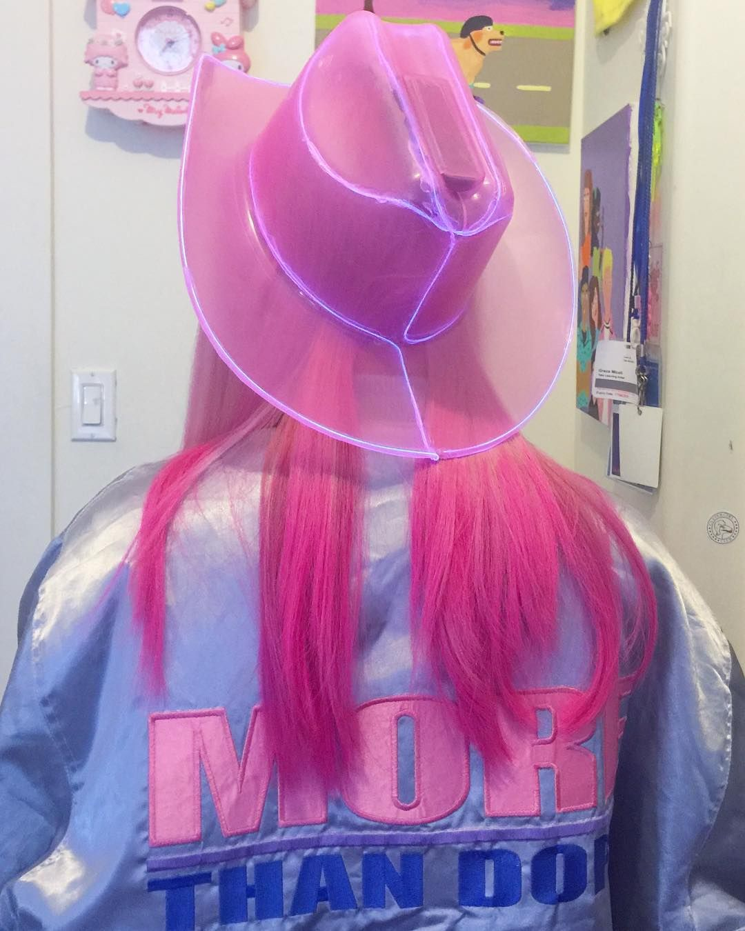neon cowboy hat  pink cowboy hat cowgirl costume cowboy