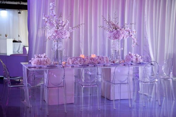 magnificent wedding sweet combination of ghost chairs