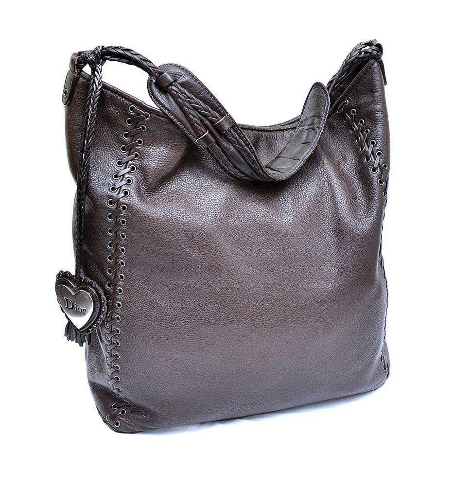Christian Dior Brown Leather Heart Hobo Bag  Dior  Hobo   eBay ... 4f807116767