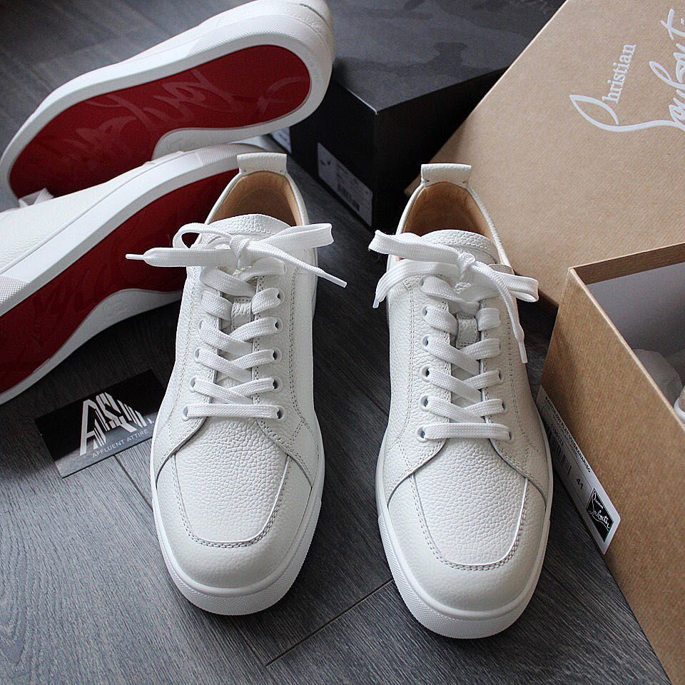 Louboutin Rantulow in white grained
