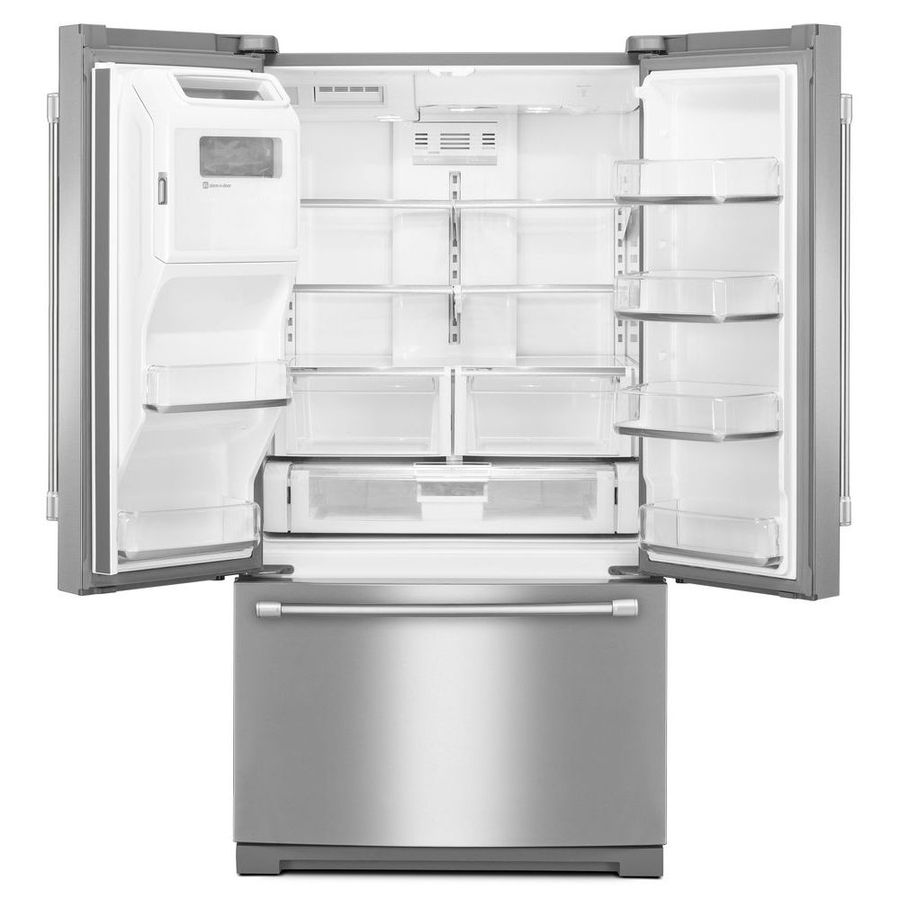 Shop Maytag 26 8 Cu Ft French Door Refrigerator With Single Ice
