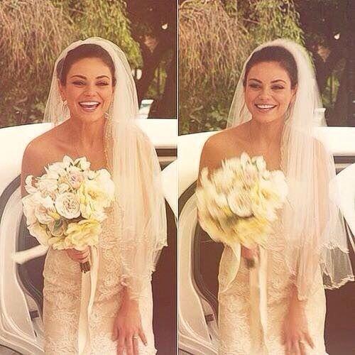 Mila Kunis Wedding Dress With Images Wedding Dresses