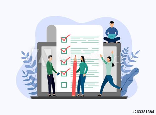 Online survey report, checklist, questionnaire, business