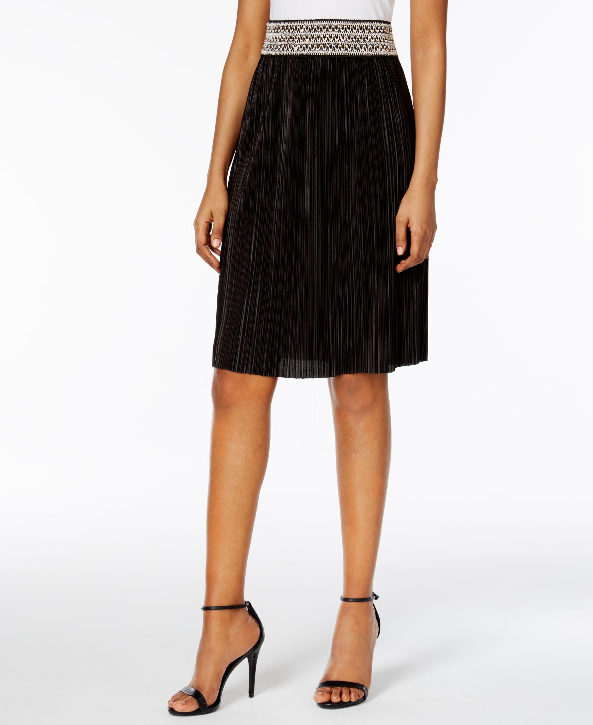 Msk Sequined A-Line Skirt