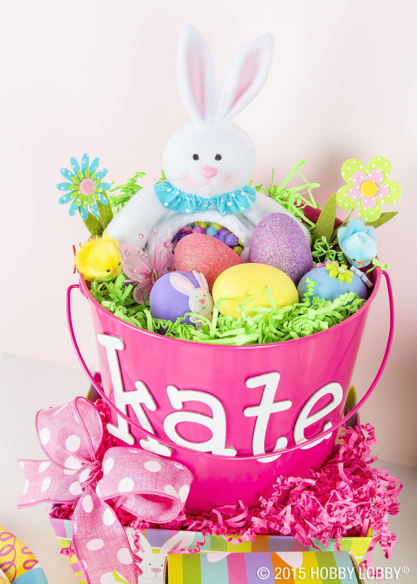 Surprise your kiddos with a fun Easter basket and hip hoppity bunny