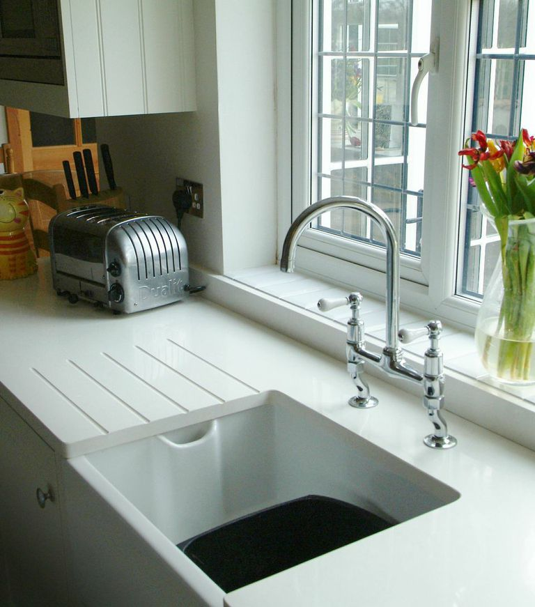 Belfast sink and white quartz worktop from That Furniture Company ...