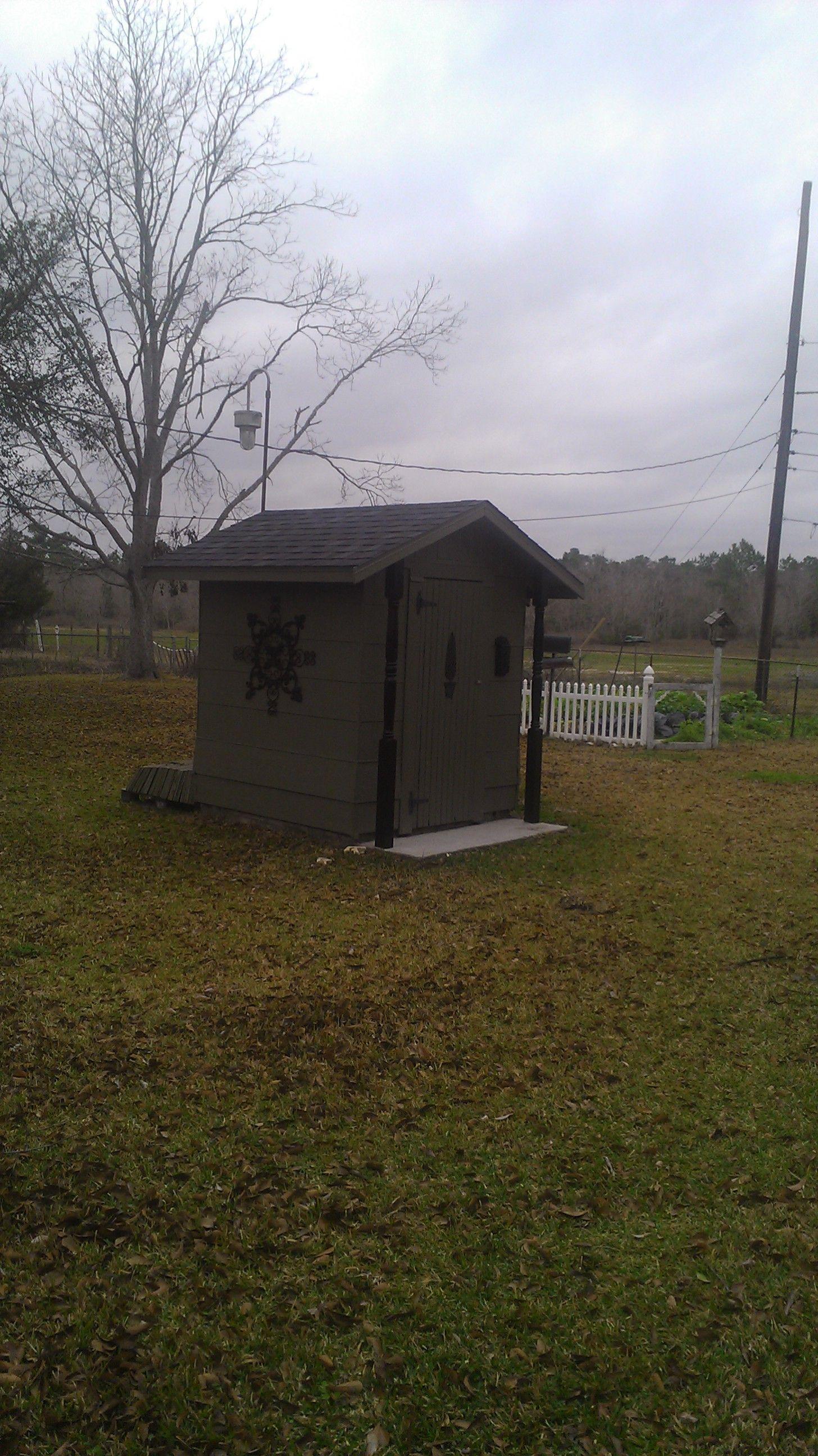 Pump House In Backyard.