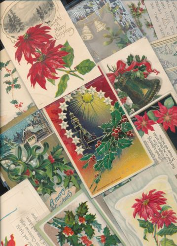 Beautiful Lot of 25 Vintage Christmas Postcards-Antique-hhh442