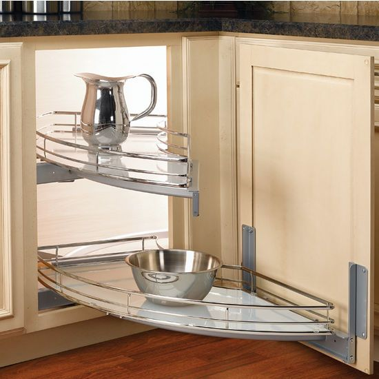 "Five Corners Kitchen: Rev-A-Shelf ""The Curve"" Luxury Kitchen Blind Corner Unit"