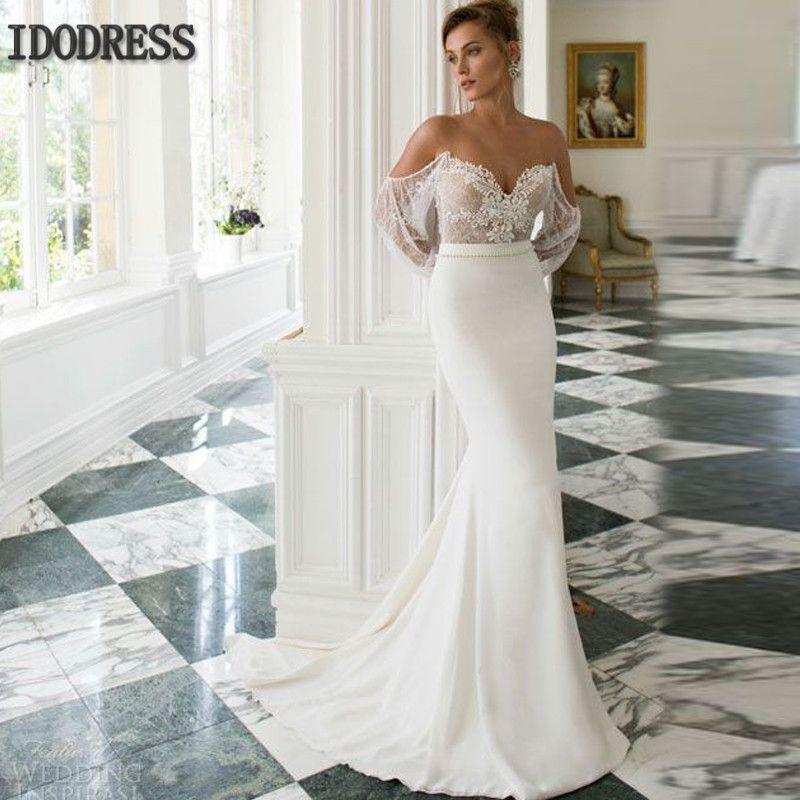Aliexpress.com : Buy Unique Mermaid Wedding Dress 2016 Custom Made ...