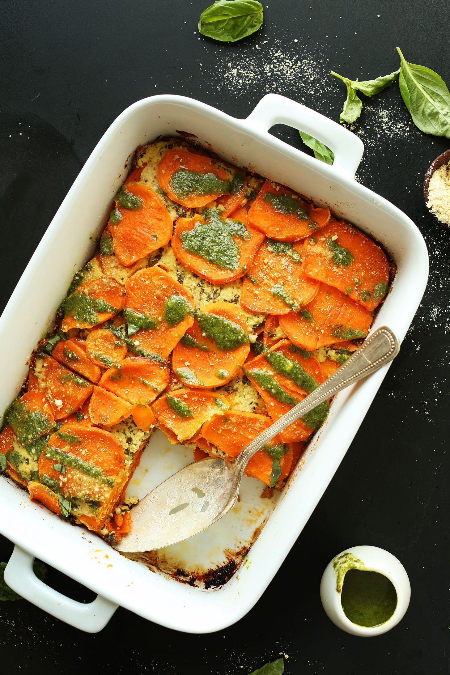 Sweet Potato Lasagna Minimalist Baker Recipes Recipe Potato Lasagna Recipes Vegetarian Recipes
