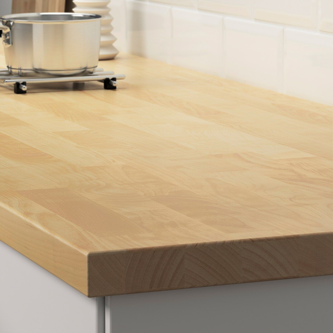 Ikea Karlby Countertop Birch Veneer In 2020 Karlby Countertop