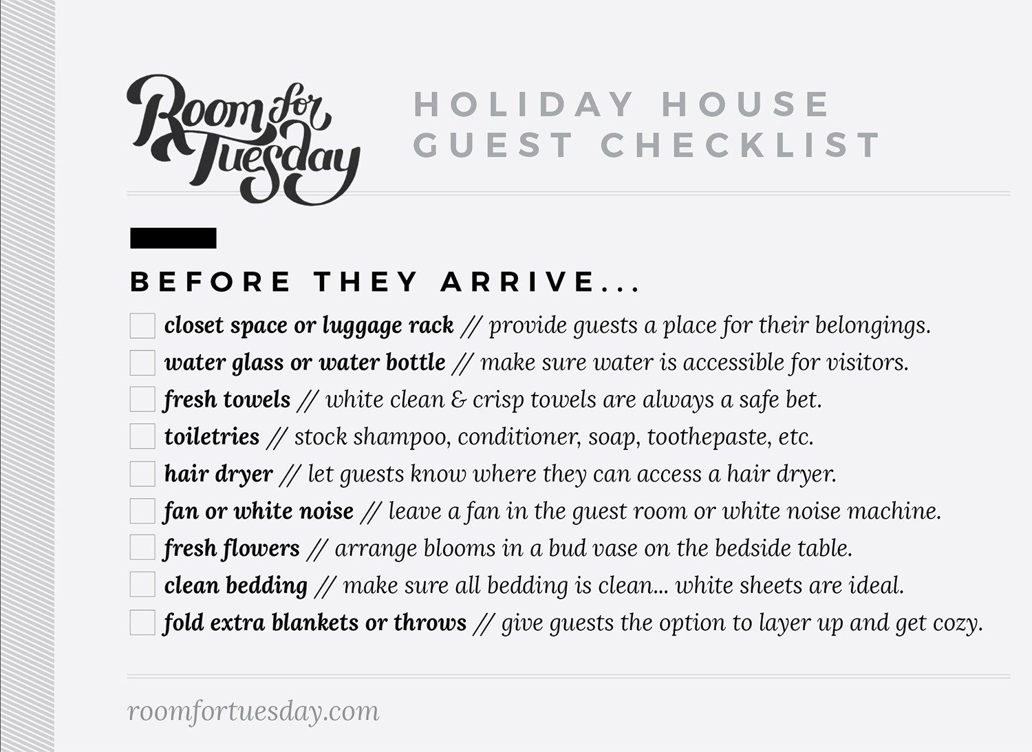 Tips For Hosting For Holiday House Guests Guest Room House