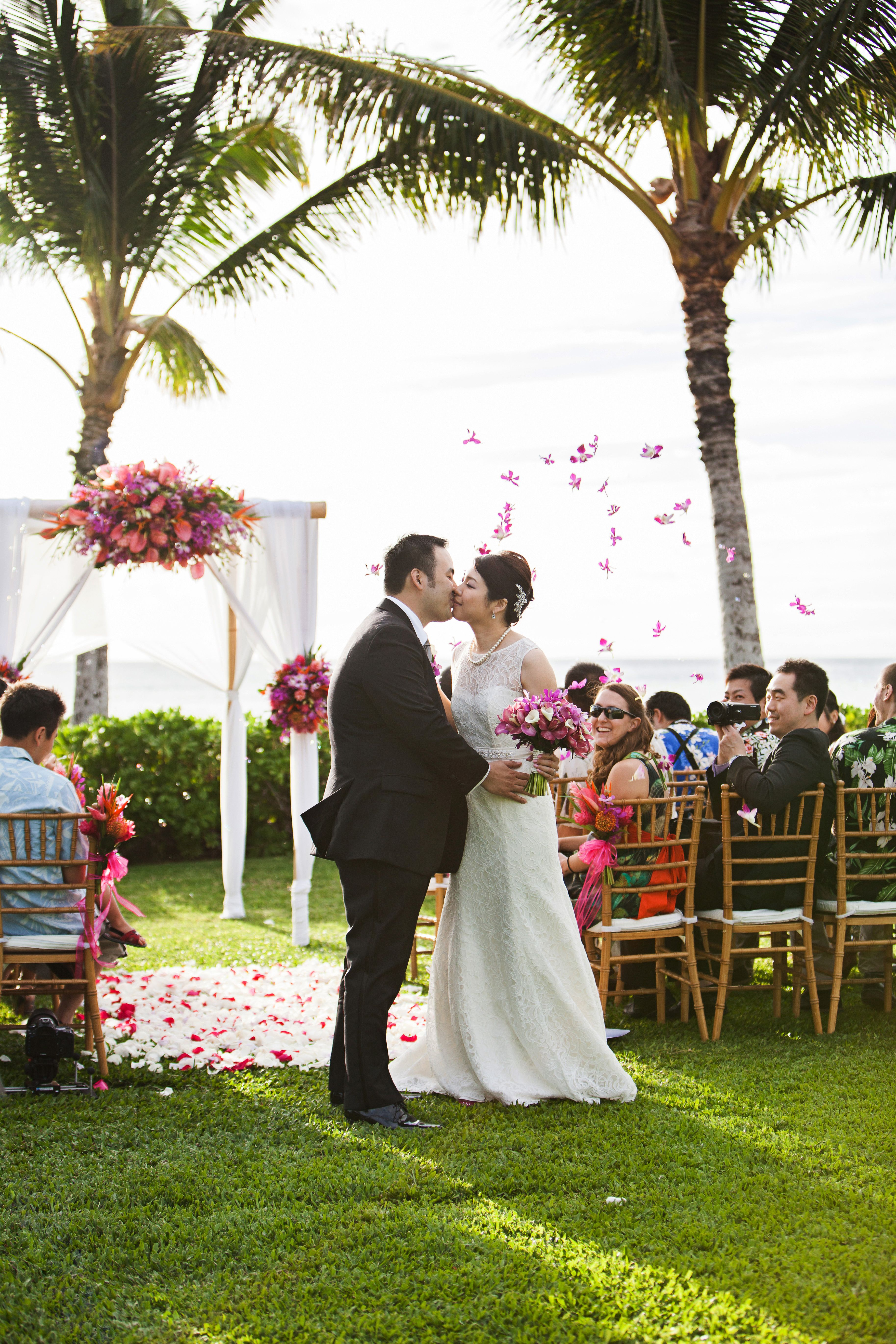 Our Couple S Flower Shower At Paradise Cove Contact Hawaii Weddings By Tori Rogers Www Hawaiianweddings Ne Hawaiian Wedding Hawaii Wedding Dream Beach Wedding