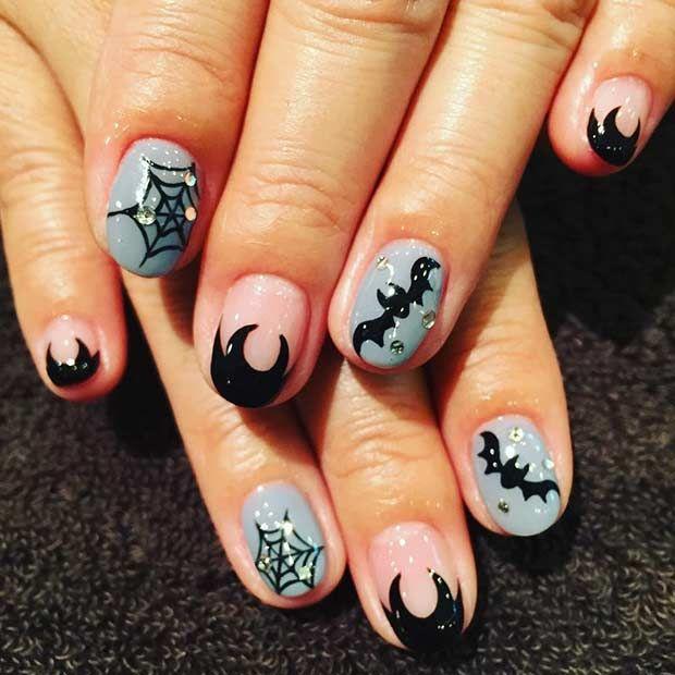 25 Creative Halloween Nail Art Ideas Halloween Nail Art Halloween Nails Halloween Nail Designs