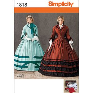 Simplicity Pattern Misses' Civil War Costumes, (16, 18, 20, 22, 24)