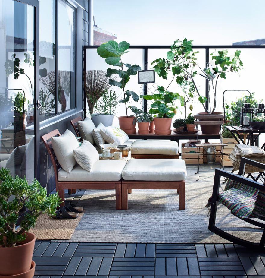 pplar fauteuil met voetenbank buiten bruin gelazuurd h ll beige buiten pinterest. Black Bedroom Furniture Sets. Home Design Ideas