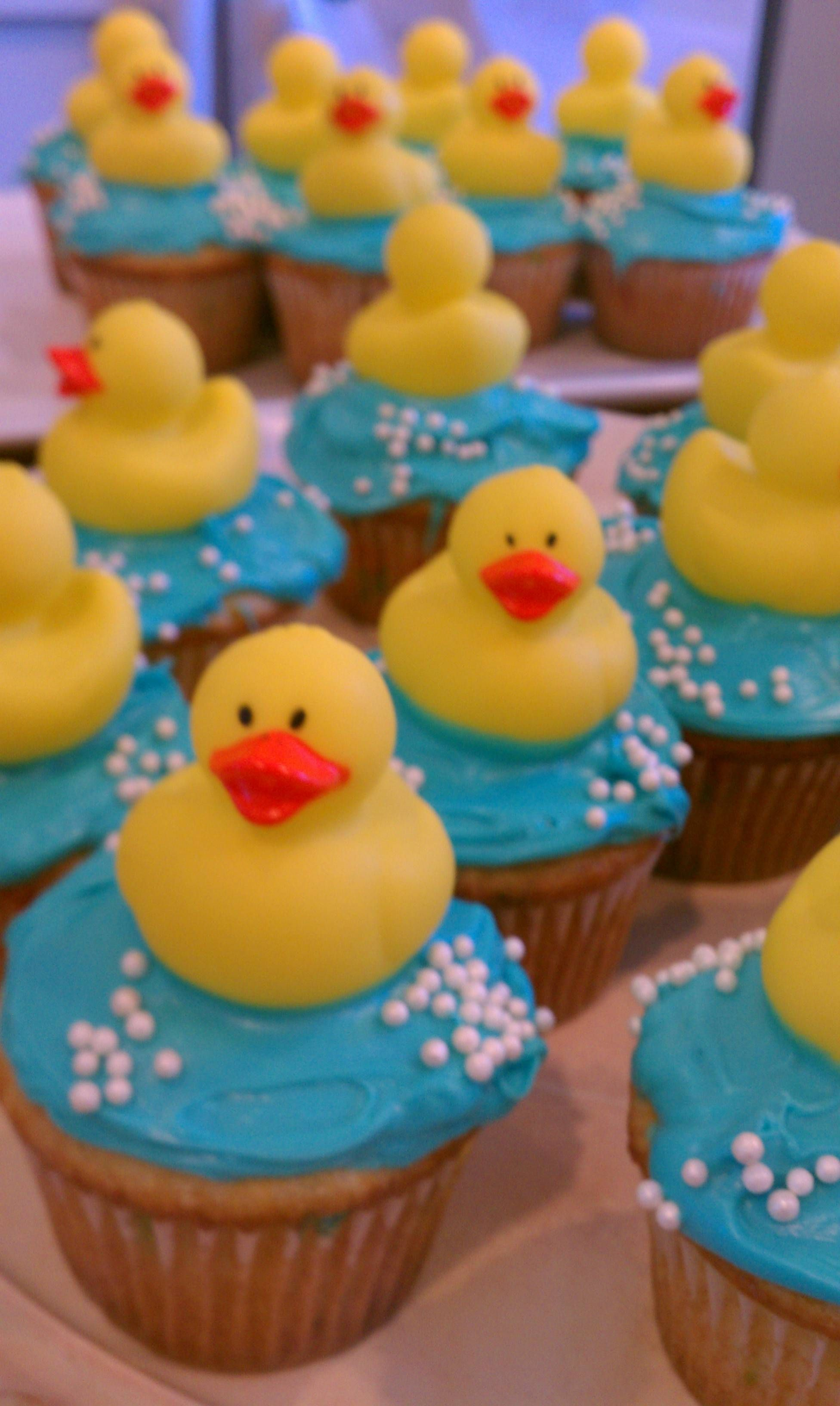 Duck cupcakes for gs first birthday Party Ideas Pinterest