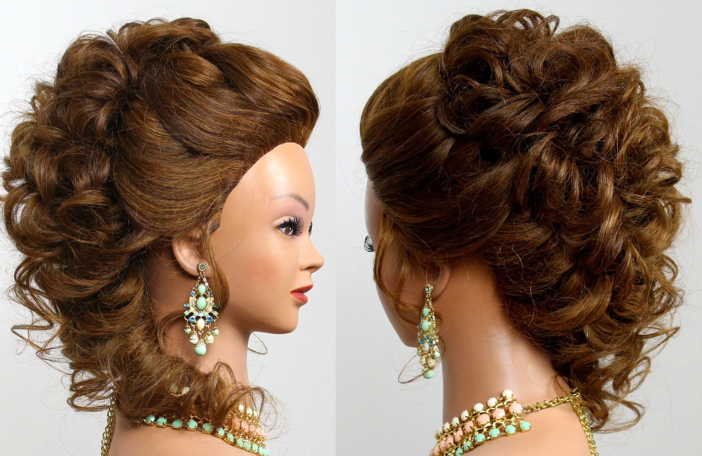 romantic bridal prom hairstyle for long hair | hair