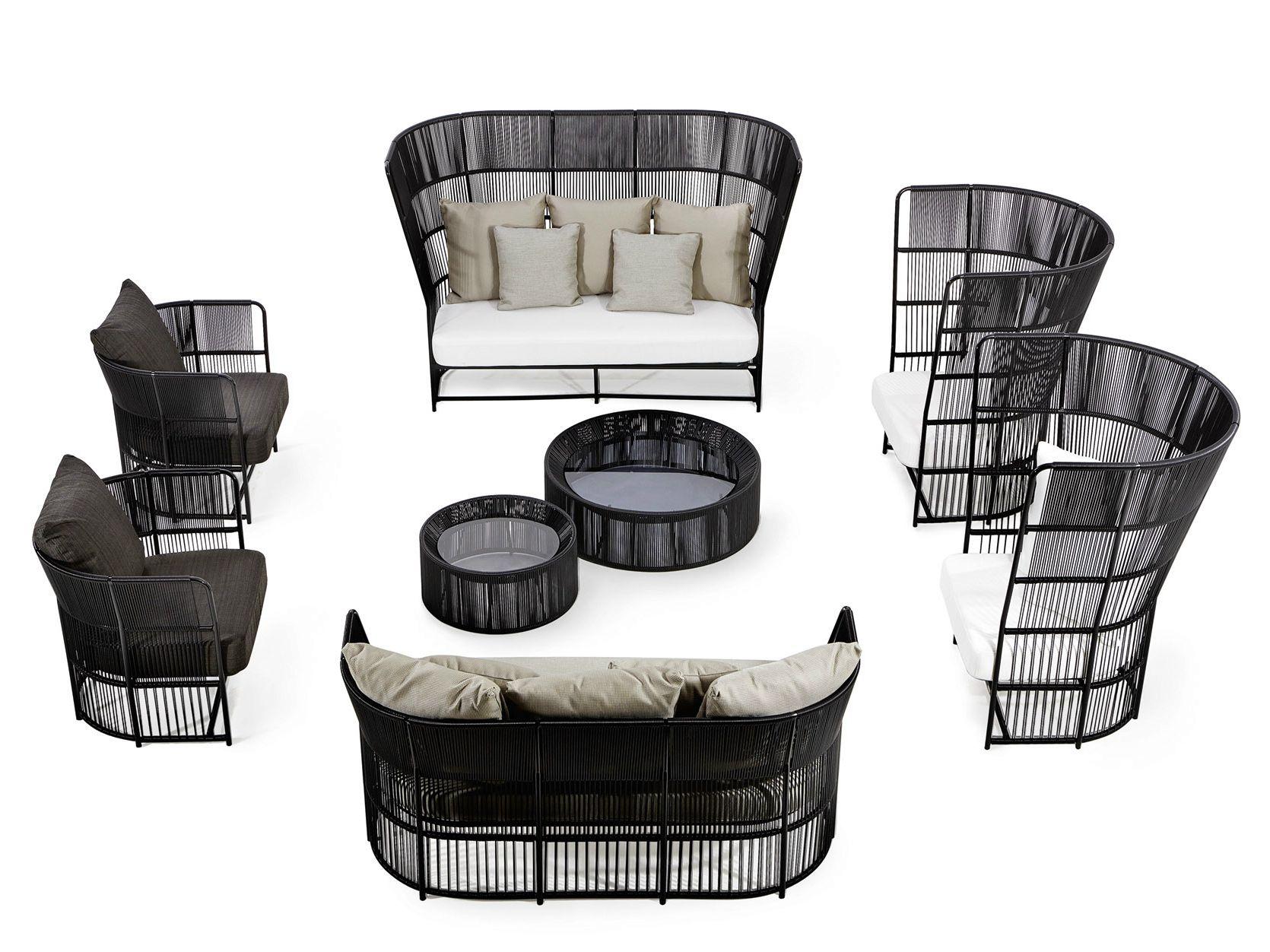 High-back sofa with synthetic fiber weaving TIBIDABO | High-back sofa - Varaschin