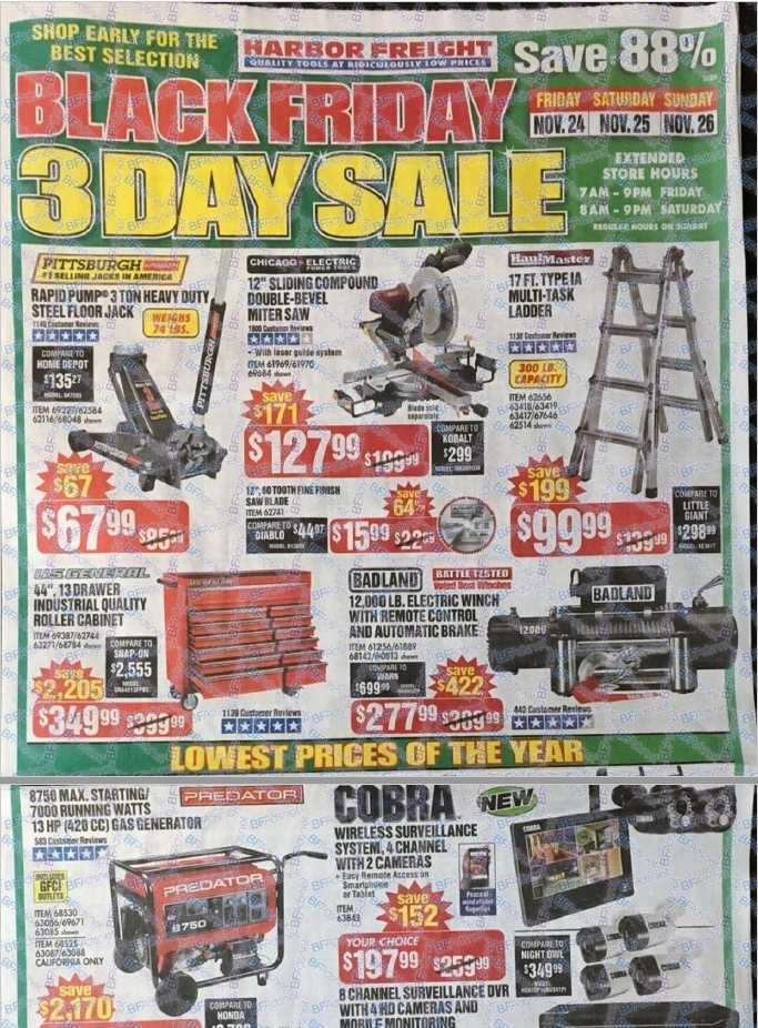 Harbor Freight Tools Black Friday 2018 Full Ad Scan