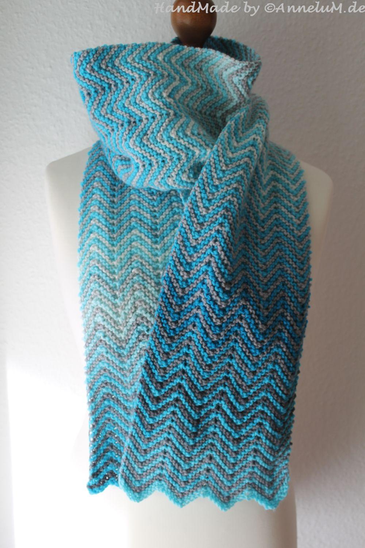 schal-blau04   Häkeln   Pinterest   Schals, Stricken und Strickschals