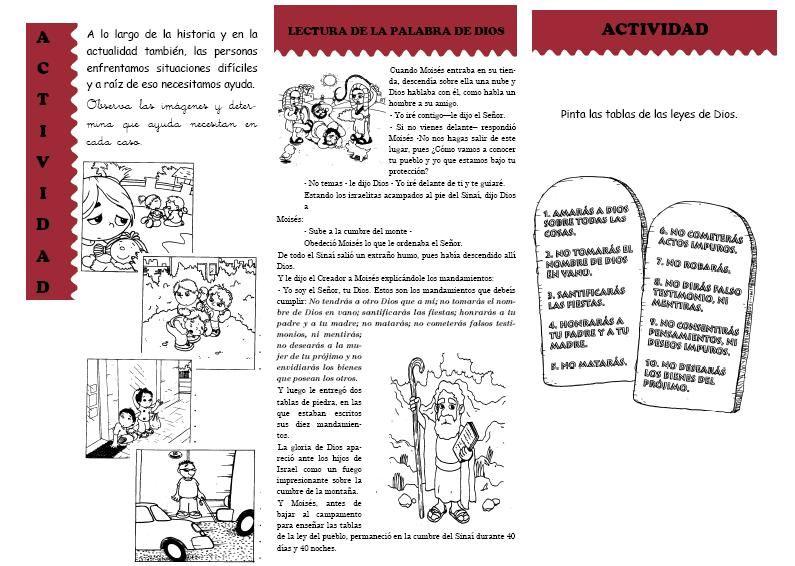 BUENAS NOTICIAS PARA LOS NIÑOS: ACTIVIDADES. LOS 10 MANDAMIENTOS ...